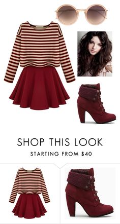 """Fall outfit- burgundy & cream"" by rogue1290 ❤ liked on Polyvore featuring Linda Farrow"
