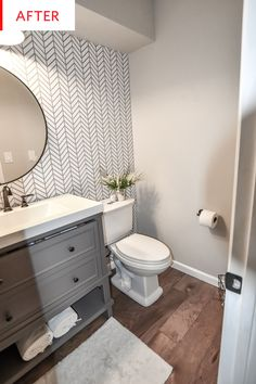 Bathroom Wallpaper - Remodel Before After   Apartment Therapy