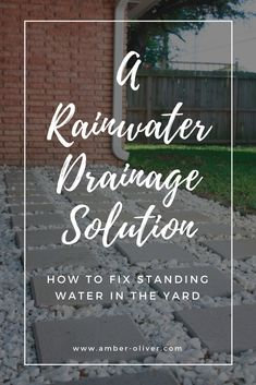 Save yourself foundation and water damage problems by adding a catch basin and drain pipe to divert rainwater drainage away from your home. An easy DIY rainwater drainage solution. Rainwater Drainage, Rainwater Harvesting, Lawn Irrigation, Drain Français, Backyard Drainage, Landscape Drainage, Water From Air, Drainage Solutions, Drainage Ideas