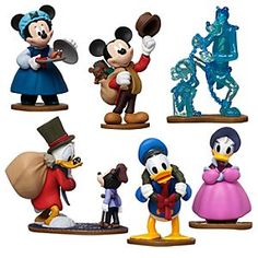 Mickey is joined by Scrooge McDuck and the cast of <i>Mickey's Christmas Carol</i> in this special edition six-piece figure play set based on the 1983 animated featurette inspired by Charles Dickens' classic Christmas tale.