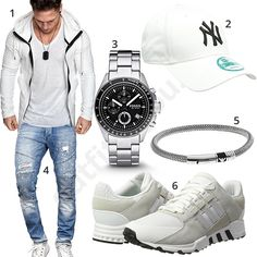 Weißer Street-Style mit Hoodie, Cap uns Adidas (m1053) #weiss #jeans #hoodie #newera #cap #fossil #armani #adidas #outfit #style #herrenmode #männermode #fashion #menswear #herren #männer #mode #menstyle #mensfashion #menswear #inspiration #cloth #ootd #herrenoutfit #männeroutfit