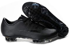 Nike Mercurial Vapor Superfly III 3 FG All Black Soccer Cleats