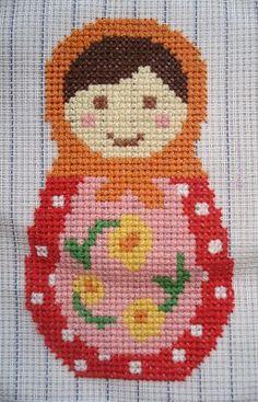 Babushka Free cross stitch pattern.