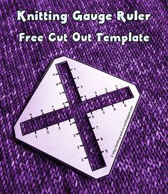 Knitting Gauge Ruler - Cut Out Template Crochet Stitches Patterns, Knitting Patterns Free, Free Knitting, Crochet Pattern, Stitch Patterns, Beginner Knitting, Free Crochet, Knit Crochet, Threading