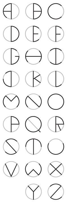 Alfabeto em círculo