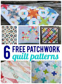 Enjoy 6 FREE patchwork quilt patterns will help you make use of those stashed fabrics and turn them into usable quilts you'll love to make.