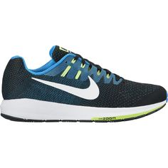 9bd50d4495f Nike Air Zoom Structure 20 Running Shoe Black Photo Blue Ghost Green White  7.5