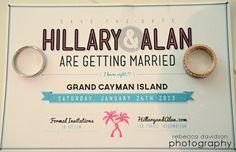 "Cute Cayman Islands Wedding ""Save the Dates"""