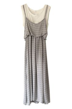 Stripe Print Pleated Grey Dress  #ROMWE