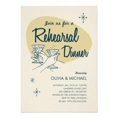 #Retro #wedding rehearsal dinner invitations.  Get inspired at diyweddingsmag.com