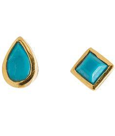 Lulu Designs Pear Square Stud Earrings