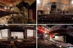 Matt Lambros photographs abandoned theatres and cinemas in the north east United States, including the Paramount Theater and Fabian Theatre in New Jersey.