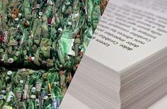 Des bouteilles en plastique bientôt transformées en papier !