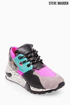 65e40c881de Buy Steve Madden Pink Leopard Block Clif Sneaker from the Next UK online  shop