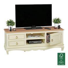 tv lowboard 135 cm massivholz hifi regal fernsehtisch shabby chic fernsehschrank despina ef tv mobel