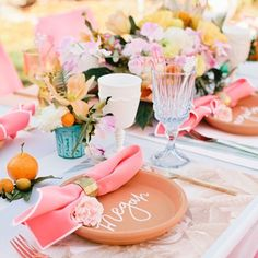 """Beijos Events on Instagram: """"So much pretty from the bridal shower our own @jacquelynkazas designed & styled for her sister @jannabug on #beijosblog today we can't even stand it!! Also featured on @100_layercake today!! Photo by @meganwelker // #linkinprofile // Florals by @bloombabes // Tabletop by @hostesshaven // Calligraphy by @poppyjackshop // Placemats by @wildercalifornia // Rentals by @adorefolklore // Stir Sticks by @nicrocdesigns"""""""