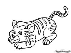 Realistic Tigers Coloring Pages