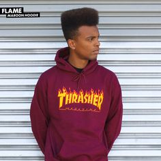 Thrasher Flame Hoodie Maroon. Holiday 2017 Capsule Collection