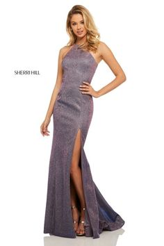 6550ee4299888 Sherri Hill Style 52481 Metallic Prom Dresses, Sherri Hill Prom Dresses,  Homecoming Dresses,