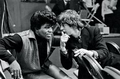 James Brown and Mick Jagger in 1965
