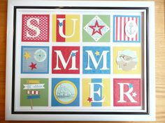 Summer Collage by Sue Drew. Paper, stamps and tools by Stampin Up!