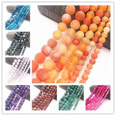 Cheap Beads, Buy Quality Jewelry & Accessories Directly from China Suppliers:Wholesale Frost Cracked Dream Fire Dragon Veins Round Loose Beads For Jewelry Making 15 Cheap Beads, Fire Dragon, Color Calibration, Wholesale Beads, Agate Beads, Jewelry Making Beads, Frost, Bracelets, Diy Bracelet