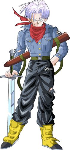 trunks del futuro dragon ball super by naironkr on DeviantArt