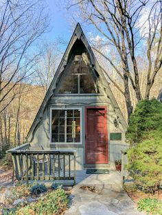 1973 mountain a-frame, we are actively seeking new stewards. A Frame House Plans, A Frame Cabin, Small Cottages, Cabins And Cottages, Tiny House Cabin, Tiny House Design, Tiny Houses, Tiny House Exterior, Tiny House Movement