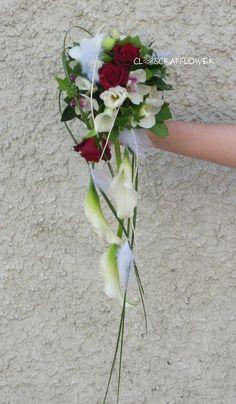 bouquet mariée tombant rouge et blanc - Recherche Google