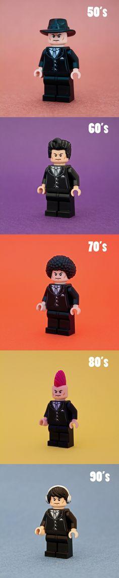 LEGO Minifigures Through Time