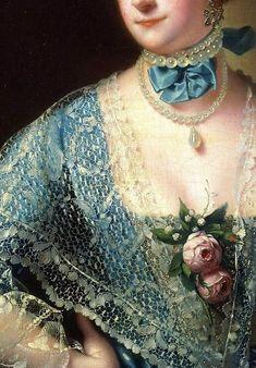 """Joseph Wright--detail from """"Portrait of Mrs. Andrew Lindington"""""""