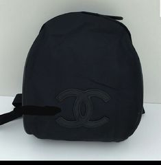 Authentic Chanel VIP Backpack Black/CC Logo -New US!  #CHANEL #Backpack