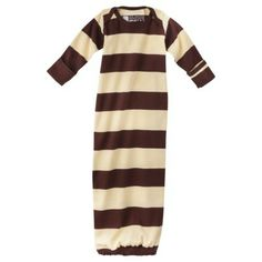 Kee-ka Infant Sleep Gown - Ivory & Brown 0-6 M