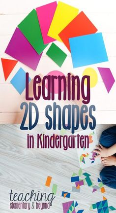 My go to list for 2D shape activities with my Kindergarten students. Learning 2D shapes is a lot of fun and there are a lot of free activities to help students learn!