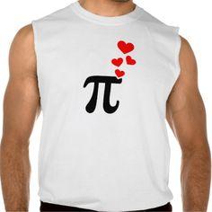 Pi red hearts sleeveless tees Tank Tops