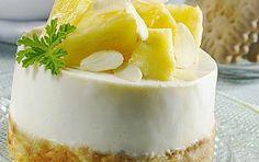 Τάρτα γιαουρτιού με πτι μπερ και ανανά