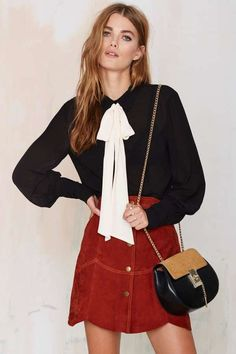 Nasty Gal Mademoiselle Pussy Bow Blouse in Black on ShopStyle!