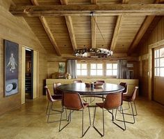 Instagram Monumental Architecture, Modern Interior, Interior Design, Travertine Floors, French Alps, Dining Room Inspiration, Design Projects, Living Spaces, Home And Family