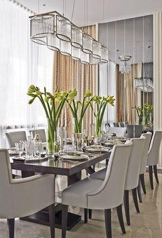 Innovative Suggestions for Dining-room Walls Dining Room Table Diningroom Innovative Suggestions Walls Dining Room Table Decor, Elegant Dining Room, Elegant Home Decor, Dining Room Walls, Dining Room Lighting, Dining Room Design, Dining Room Furniture, Dining Chairs, Room Decor
