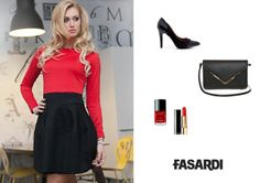 #dress #black #red http://fasardi.com/product-pol-9995-Sukienka.html