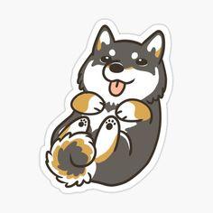 Stickers Cool, Red Bubble Stickers, Tumblr Stickers, Kawaii Stickers, Printable Stickers, Laptop Stickers, Shiba Inu, Kawaii Drawings, Cute Drawings