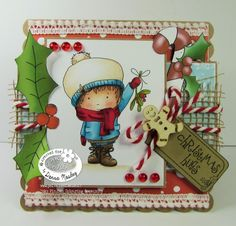 Festive Hollybobs - Polkadoodles Inky Pinky DT make