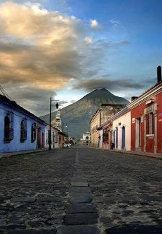 Antigua, Guatemala The old capital with its dormant volcanoes always watching.
