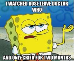 I watched Rose leave Doctor Who and I only cried for two months. Doomsday, Journeys End Billie Piper, David Tennant