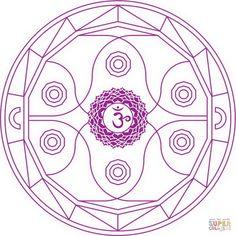 Mandala de Chakra Ajna | Super Coloring