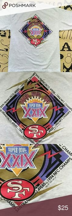 Vintage 1994 Super Bowl XXIX(29) T-shirt Vintage 1994 Super Bowl XXIX with San Francisco 49ers NFC champs TSF sportswear  Shirts Tees - Short Sleeve