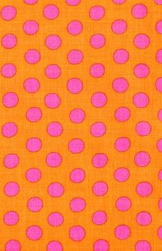 "orange & fuchsia - I'm pretty sure I had a ""baby-doll"" dress made out of this fabric when I was in junior high. :-)"