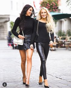 Lovely Ladies in Leather: Miscellaneous Leather Tight Pants and Shiny Leggings (Part Twelve) Tight Leather Pants, Black Leather Skirts, Leather Dresses, Leather Trousers, Leather Pumps, Casual Summer Outfits, Stylish Outfits, Fall Outfits, Hot Topic Clothes