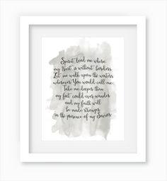 Spirit Lead Me Hillsong United Oceans Lyrics by WandererCreative