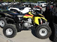 Used 2014 Suzuki QuadSport® Z400 ATVs For Sale in North Carolina. The 2014 QuadSport® Z400 features Suzuki's fuel-injection system that provides a cleaner, quicker, and stronger acceleration than ever before. It's the ideal four-wheeler for exciting sport riding on the track, in the sand, or in the woods. Whether you're an avid racer or just out for a quick ride, our sport quads are the most fun you can have on four wheels.